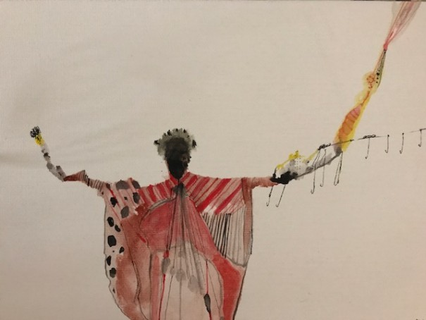 George Raftopoulos, Queen of Coryra, watercolour on canvas, 12x20cm