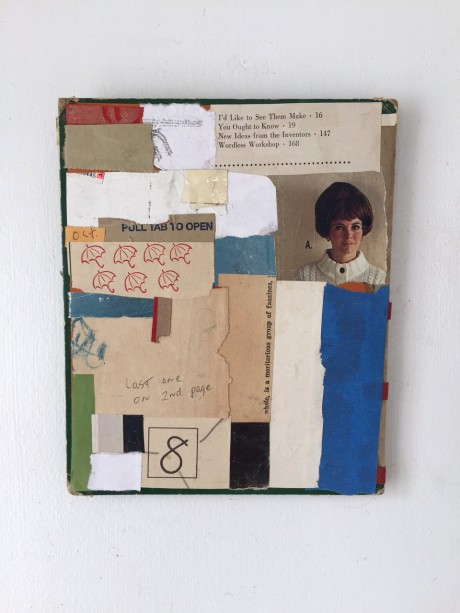 Tom Duimstra, You ought to know, 2013, Collage auf Buchcover, 16x21cm