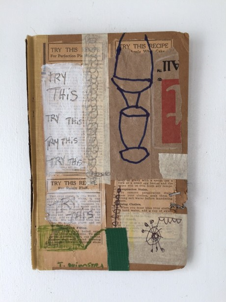 Tom Duimstra, Try this, 2014, Collage auf Buchcover, 15x22cm